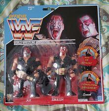 WWF WWE Custom Made Hasbro Mattel Retro Demolition Ax Smash w Belts Amazing
