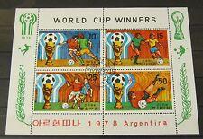 Briefmarken Korea 1978 Block 52 World Cup Winners Argentinien Gummiert