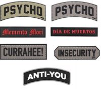 Airsoft morale patch funny hook and loop bike outdoor tactical 3D PVC