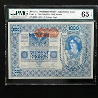 Austria 1902 (ND 1919), 1000 Kronen Pick # 61, PMG 65 EPQ Gem Uncirculated