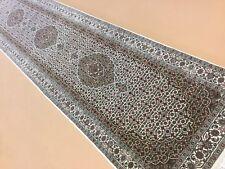 "Mahie Bijar Persian Oriental Rug Runner Hand Knotted Wool & Silk 2'.8"" X 11'.11"""