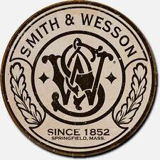 Historische Jagd Waffen Reklame Dekoschild S&W Logo Werbung  Plakat Vintage *997