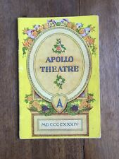 "VINTAGE 1934 ERNEST ROLL'S ""THE MERRY MALONES"" APOLLO THEATRE PROGRAMME"