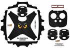 Carbon Fiber Eyes DJI Phantom 4 P4 Skin Wrap Decal Sticker Vinyl Ultradecal