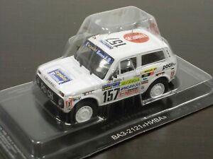 1:43 Lada 2121 Niva 1983 Rally Paris Dakar #07 DeAgostini Autolegend Spec. Sport