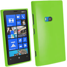 Verde Funda TPU Gel para Brillante Nokia Lumia 920 Windows TPU Cover Carcasa
