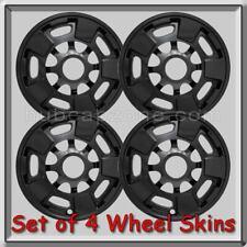"Black GMC Wheel Skins Hubcaps 17"" 2012-2015 GMC Sierra Truck 2500 Wheel Covers"