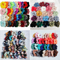 2019 Velvet Hair Scrunchies Hair Ties Bun Ring Chiffon Silk Scrunchy Elastic Lot