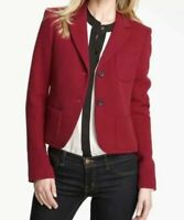 Theory Blazer Jacket Deep Red Woman's Size 10 'Nillian Valleius' Wool Pockets 10
