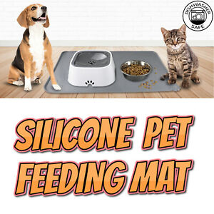 Large Silicone Pet Feeding Mat for Dog Cat Bowls Non Slip Pet Food Placemat