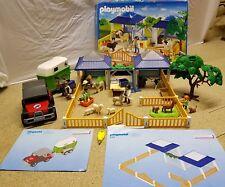 PLAYMOBIL SET 4344 ANIMAL NURSERY VET CLINIC (BOXED) + 4189 HORSE BOX AND JEEP