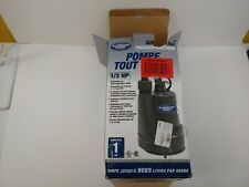 Superior Pump 91330 1/3 HP Thermoplastic Submersible Utility Pump with 1/3 HP