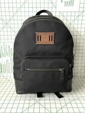 Coach F27609 Men's CORDURA West Canvas & Leather Backpack in Black