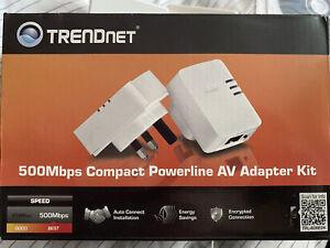TRENDnet 500Mbps Compact Powerline Av Adapter Kit - 3x plugs