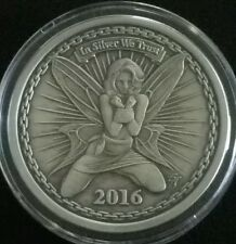 2016 SILVERBUG ALYX THE FAIRY PROOF ANTIQUED 1 OZ 999 SILVER ROUND COIN RARE HOT