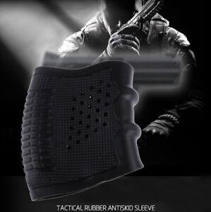 Outdoot Tactical Slip On Rubber Grip Glove Anti Slip Sleeve For Pistol S~
