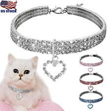 Dog Cat Collar Crystal Necklace Pendant Rhinestone Jeweled Accessory Puppy Pet