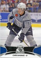 16/17 UPPER DECK AHL SP #118 CHRIS BIGRAS SAN ANTONIO RAMPAGE *30887