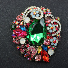 Charm Women's Brooch Pin Gift Betsey Johnson Colorful Crystal Lovely Flower