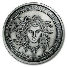 5 oz Silver Round - Medusa (Antique Finish) - SKU #104524