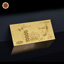 WR Billet commémoratif espagnol plaqué or 10000 euros