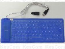 Flexible Tastatur PS/2 USB Wasserdicht einrollbar blau deutsches Layout - Win10