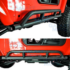 New 1 Set Rock Crawler Side Slider Armor Rocker Guard for 97-06 Jeep Wrangler TJ