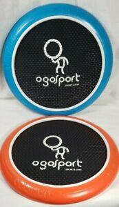 """Ogosport Sports 12"""" Disk Orange and Blue Lightweight Mesh set of 2"""