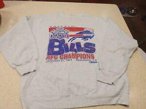 Vintage Buffalo Bills 1993 Super Bowl Sweatshirt Trench Rare NFL Football