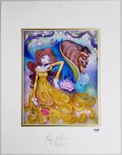 PAIGE O'HARA Signed Disney Beauty & The Beast 9 x 11 Photo Belle Ketner Litho A