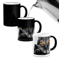 3D Cat Face Beautiful .Novelty Heat Colour Changing Mug