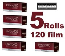 5 Rolls 120 BERGGER PANCRO 400 ISO B&W Black-and-White Medium Format Film