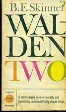 WALDEN TWO by B.F. Skinner (1962) Macmillan pb
