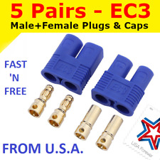 5 Pairs EC3 Connector Plug for RC Car Plane Helicopter Battery Lipo ESC