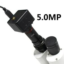 5MP USB CMOS Camera Microscope Digital Electronic Eyepiece w/ 0.5X C Mount Lens