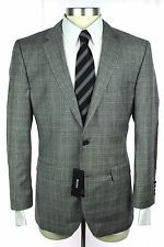 NWT HUGO BOSS The Smith11 Gray Glen Plaid Wool 2Btn Jacket Coat 52 42 42S  $745