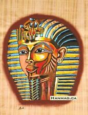 Egyptian Papyrus Painting Poster +King Tutankhamen + 16X24 Inches + Handmade #12