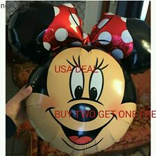 Red Bowtie Minnie Mouse Head Birthday Party Balloon baby Shower Girl mickey