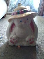 Vintage Treasure Craft Bunny Cookie Jar