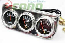 "Triple 2"" Racing Auto Gauges Set Amp Meter, Water Pressure, & Oil Pressure Guage"