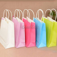 5pcs Luxury Party Bags Kraft Paper Gift Bag With Handles Recyclable Loot Bag Hot