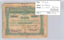BILLET TIMOR - 20 PATACES 1-1--1910 - RARE!!!!