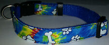 Tie-Dye COLLAR Cat Dog Small Pet Cute Puppy Kitten Bell Lap Mini Blue Spike New
