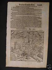 Historisches Stadtbild von CHUR,  Holzschnitt von 1590    Preis reduziert