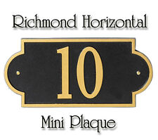 Whitehall Richmond Horizontal Mini Address Plaque Personalized Sign in 17 Colors