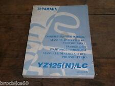 MANUEL REVUE TECHNIQUE D ATELIER YAMAHA YZ 125 2001 N SERVICE MANUAL 125YZ LC