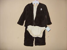 Small Wonders Boys 3 Piece Pants, Jacket and Body Suit  Set   6-9 Months