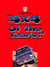 1995 Dodge Ram Truck 4x4 of Year Sales Brochure Folder