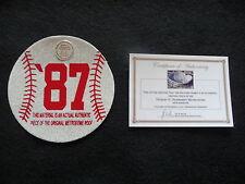 1987 World Series baseball  cut from METRODOME ROOF! Minnesota Twins