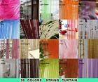 20 Color Fringe Door Window Panel Room Divider String Curtain Strip Tassel 3M/1M
